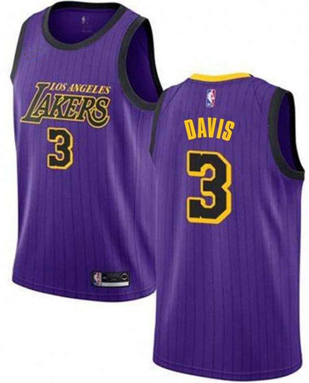 Amazon Com Men S 3 Anthony Davis Jersey Purple Los Angeles