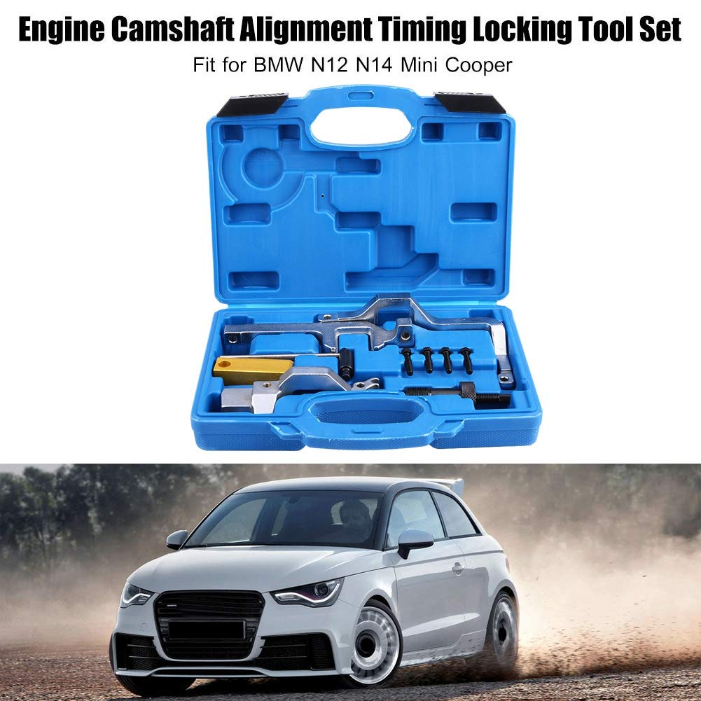 Amazon.com: Engine Timing Tool, Engine Camshaft Alignment Timing Locking Tool Set with Carry Case for BMW N12 N14 Mini Cooper: Automotive