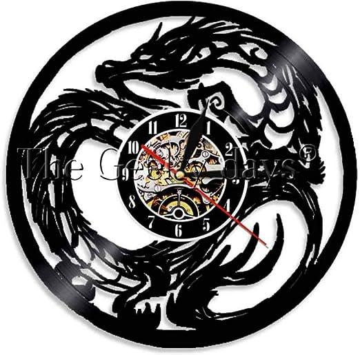 Disco De Pared De Vinilo. Reloj De Pared Tatuaje Tribal Dungeon ...