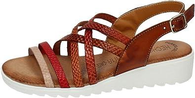 MADE IN SPAIN 105-LBE Sandalia Tiras Piel Mujer Sandalias Cuero 40: Amazon.es: Zapatos y complementos
