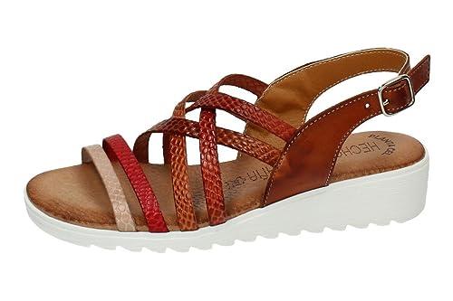 90aea757739 MADE IN SPAIN 105-LBE Sandalia Tiras Piel Mujer Sandalias Cuero 40   Amazon.es  Zapatos y complementos