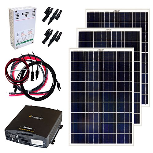Grape Solar GS-300-KIT 300-Watt Off-Grid Solar Panel Kit by Grape Solar