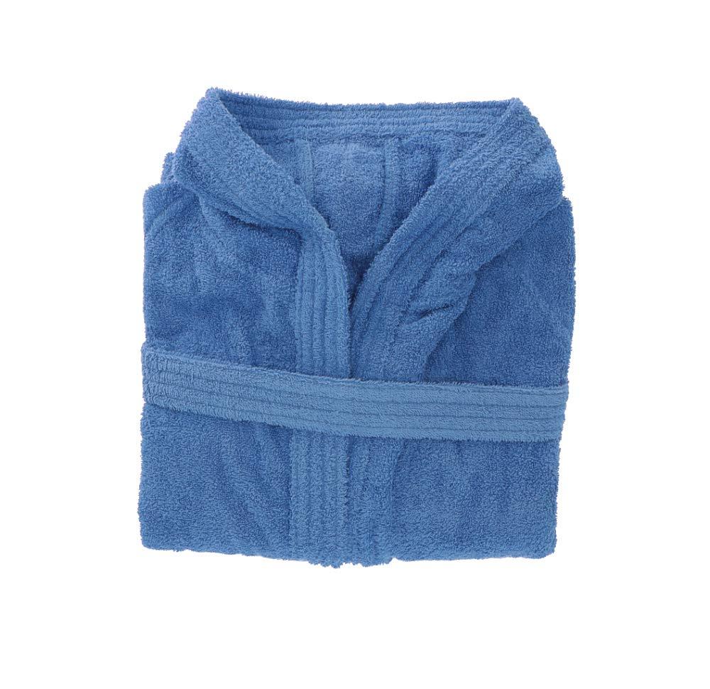 Ciclamino-XS Accappatoio Tinta Unita Viareggio Gabel con cappuccio e tasche 100/% cotone