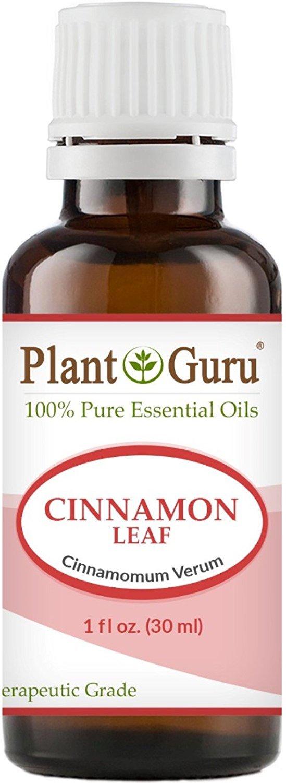 Cinnamon Leaf Essential Oil. 30 ml. (1 oz.) 100% Pure, Undiluted, Therapeutic Grade. by Plant Guru B00FVWWY2E