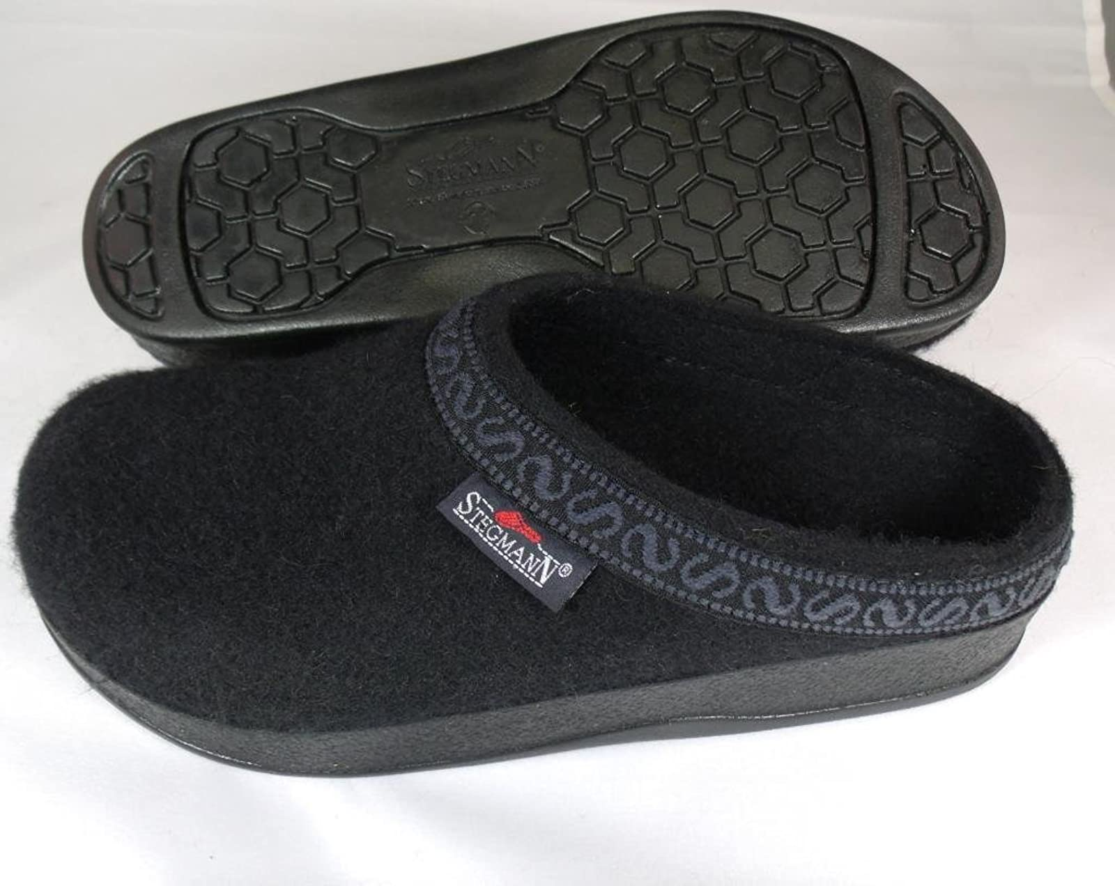 Women's Wool-Flex clog L108p Black Graphite - 3