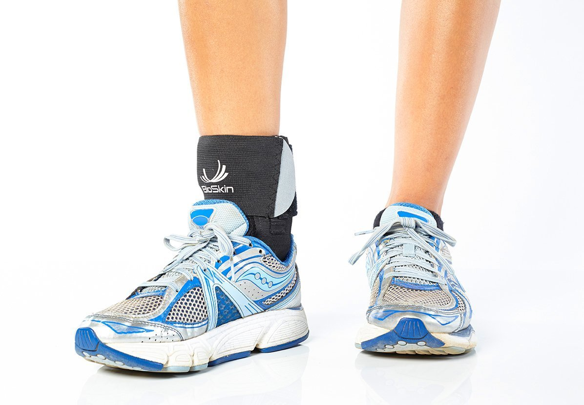 BioSkin Trilok Ankle Brace - Foot and Ankle Support for Ankle Sprains, Plantar Fasciitis, PTTD, Tendonitis and Active Ankle Stability - Lightweight, Hypo-Allergenic (XSmall) by BIOSKIN (Image #6)