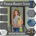 Premium Magnetic Screen Door - KEEP BUGS OUT.. Tough Mesh, Magnets Snap Shut Automatically. Lets Fresh Air In!