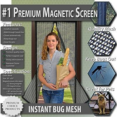 Premium Magnetic Screen Door - KEEP BUGS OUT, Let Fresh Air In
