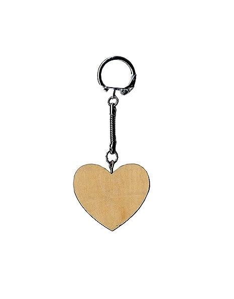 Artemio 14001482 - Llavero de Madera, diseño de corazón ...
