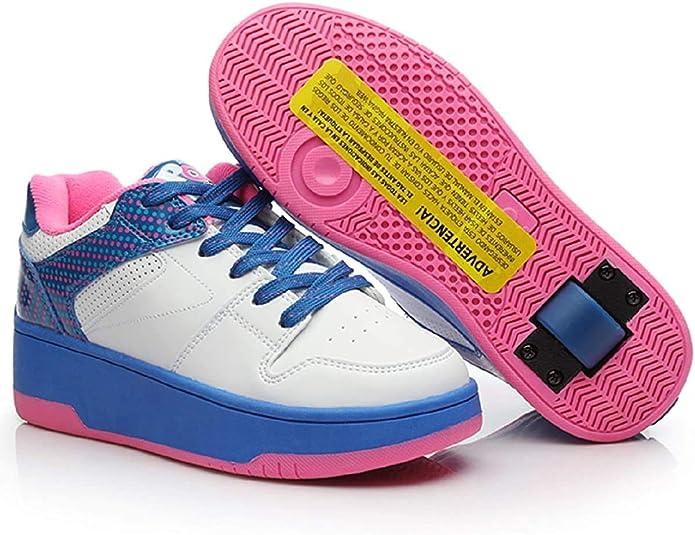 Roller Heel Shoes Pattini Blades ZYFXZ Portable Hot Wheels Trainer scarpe ruote di formazione Fun Attrezzature da gioco Kid Ragazzi Ragazze per Kid Ragaz Ultra silenzioso Whirlwind puleggia a rulli