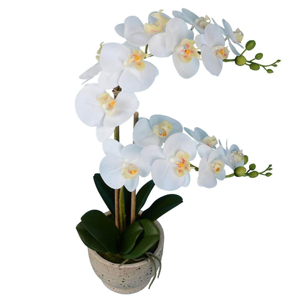 Vickerman FN180801 White Orchid Everyday Floral