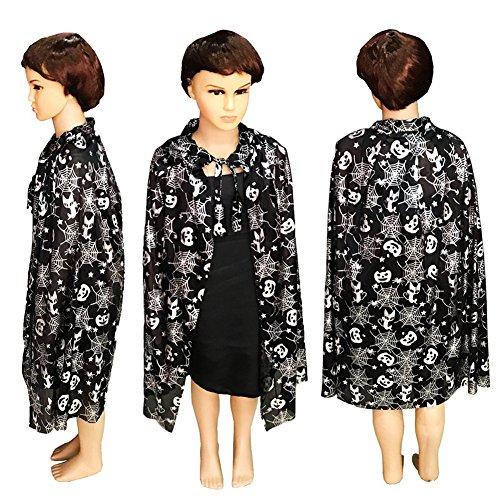 Top Dog Halloween Costumes 2016 (Vimans Children Halloween Costumes Wrap Shawls for Kids Black Cape Robe Cloaks)