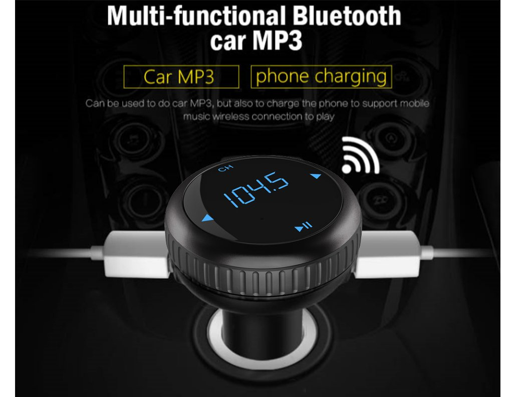 FM Transmitter for Car Actpe Bluetooth In Car MP3 Player Radio Adapter FM Modulator with Handsfree Calls /& USB Charger for iPhone 7 Plus 6s 5s Samsung Galaxy S8 Plus S7 S6 Edge Android Cell Phone