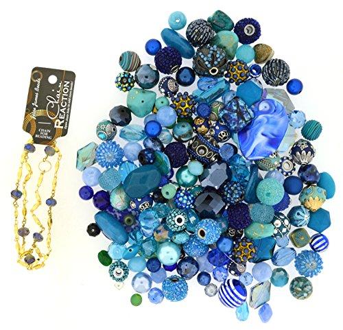 Jesse James Beads - Jesse James Beads Premium Blue Mix-Plus Free 18 inch Beaded Chain