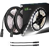 LE Tira LED Cadena de Luces, 5m 300 LED SMD 2835, Blanco Frío, No Impermeable 6000K para Techo, Escaparate, Muebles, etc. Pack de 2