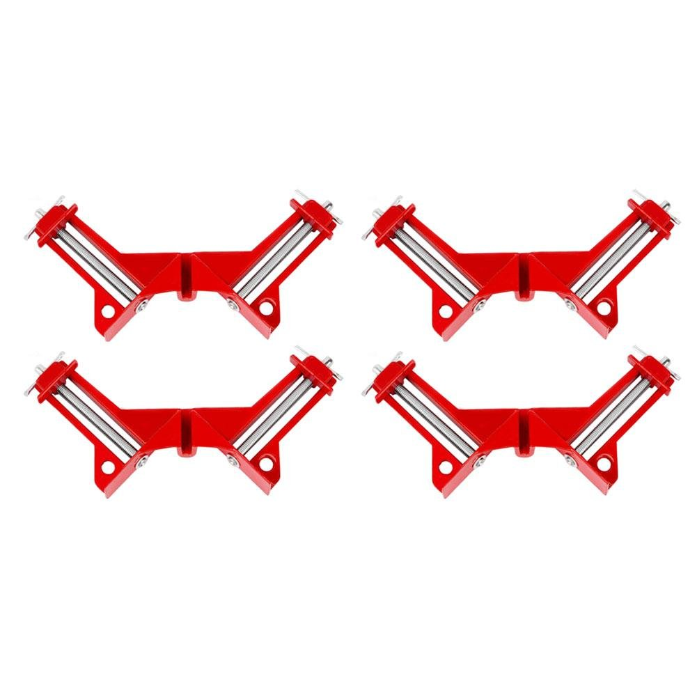 Asiproper 90 Degree Right Angle Picture Frame Fish Tank Woodwork Corner Clamp(4pcs)