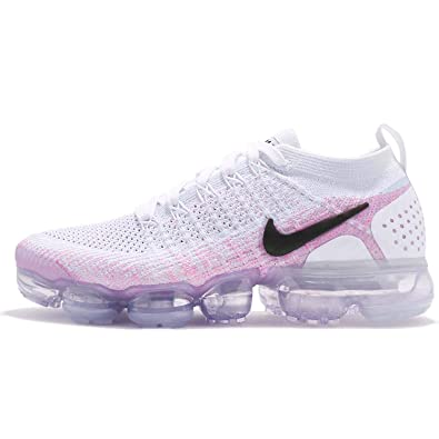8ab1422372 Nike Women's W AIR Vapormax Flyknit 2, White/Black-Hydrogen Blue, 12 ...
