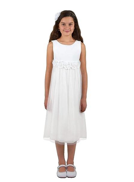 Verasposa® vestito da prima comunione bianco corto 9e669077de2