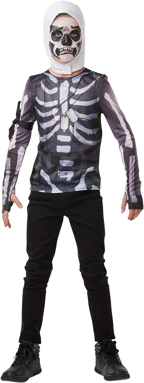 Fortnite - Disfraz camiseta Skull Trooper para niño, Small - 140 cm