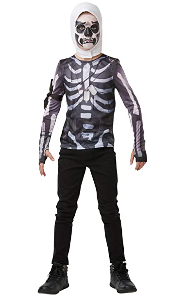Amazon.com: Rubies Fortnite Skull Trooper - Disfraz para ...