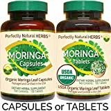 150 Moringa Capsules Made With USDA Certified Organic Moringa Leaf Powder, Net Weight of 500mg per Capsule For Sale