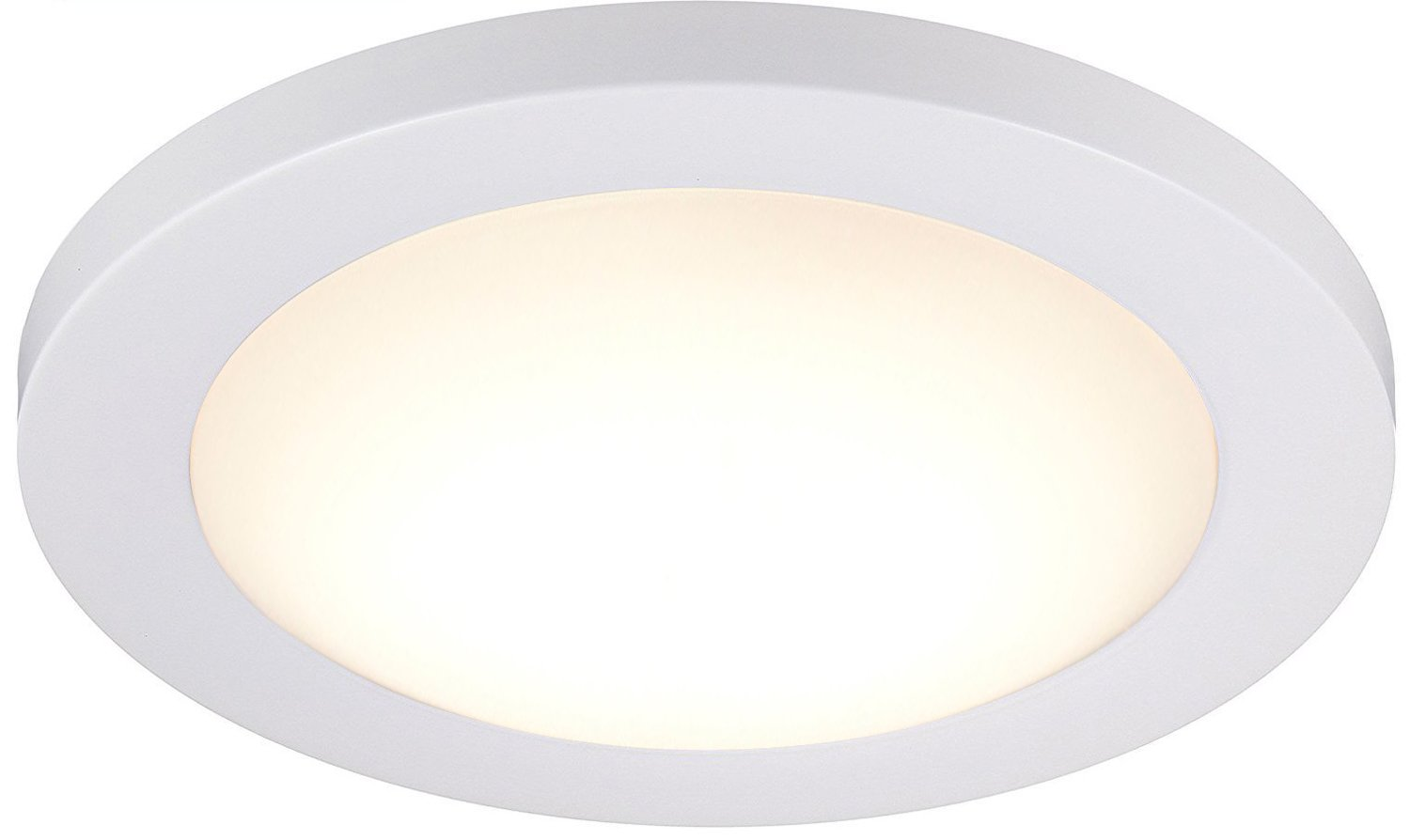 Cloudy Bay 12-inch LED Flush Mount Ceiling Light,3000K Warm White,Dimmable 17W 1100lm -120W Incandescent Equivalent,White Finish