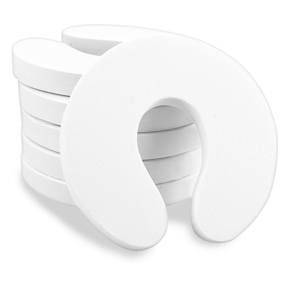 Navaris 6x Finger Klemmschutz für Tür Fenster - Schaumstoff Baby Schutz Kindersicherung - Kinder Sicherung Fingerklemmschutz - Set in Weiß KW-Commerce 42865_m000486