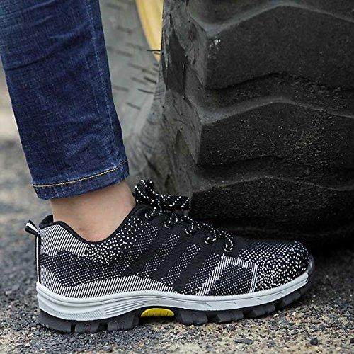 Femmes Chnhira Hommes Ultra Acier C Unisexe Trainer Toe Respirant Cap Chaussures Travail Noir Saftey qrnArtxw