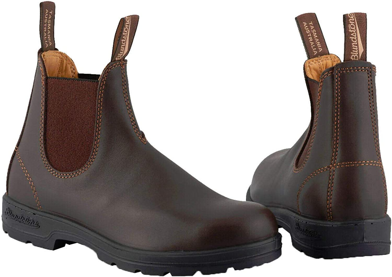 Blundstone 550 Mens Chelsea Boots Walnut Brown Leather Dress Casual Slip On Boot