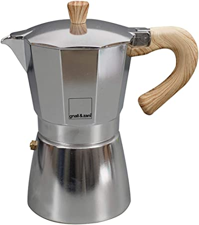 Gnali & Zani VEZ006/IND Venezia - Cafetera italiana (aluminio, 6 tazas): Amazon.es: Hogar