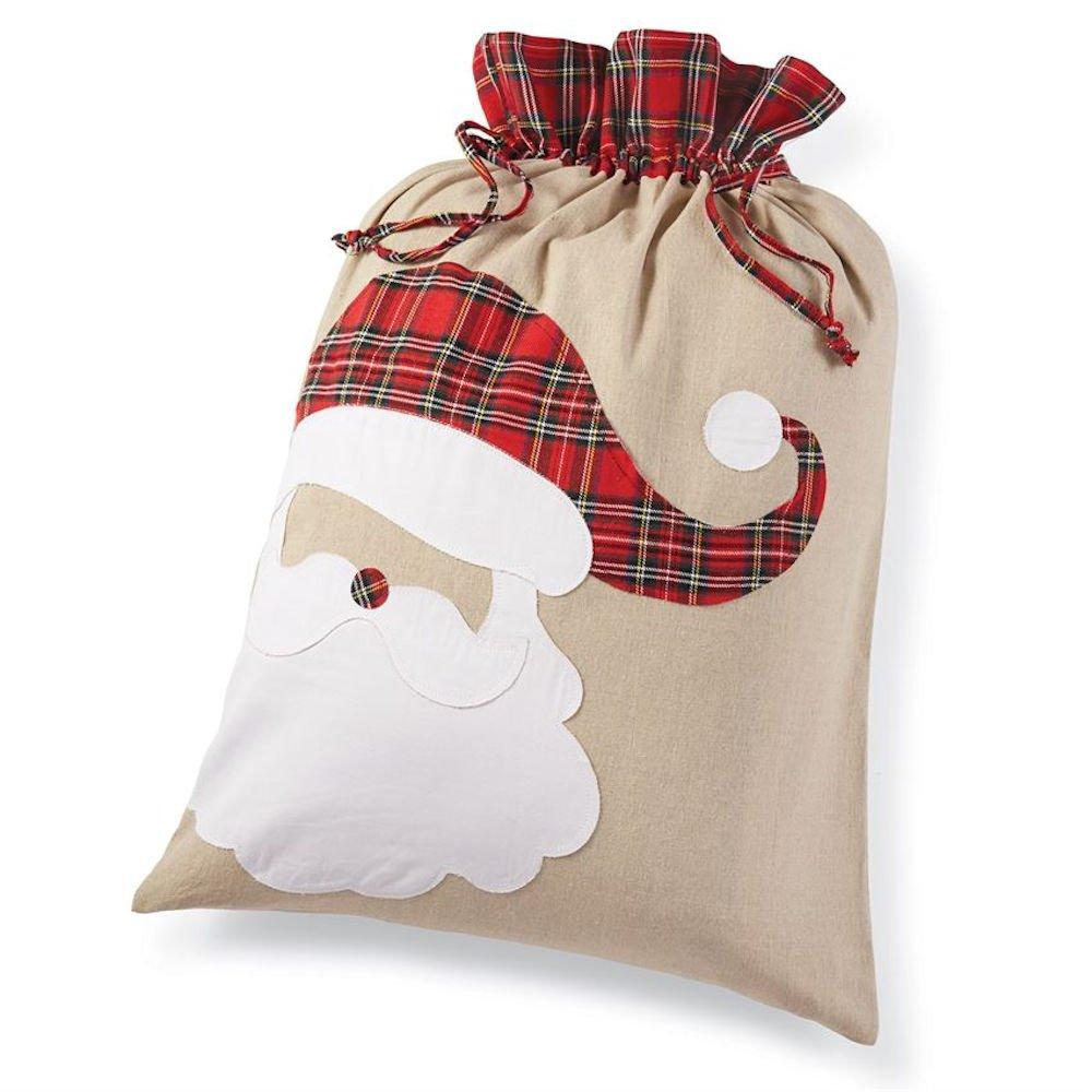 amazoncom mud pie santa tartan christmas sack health personal care - Mud Pie Christmas