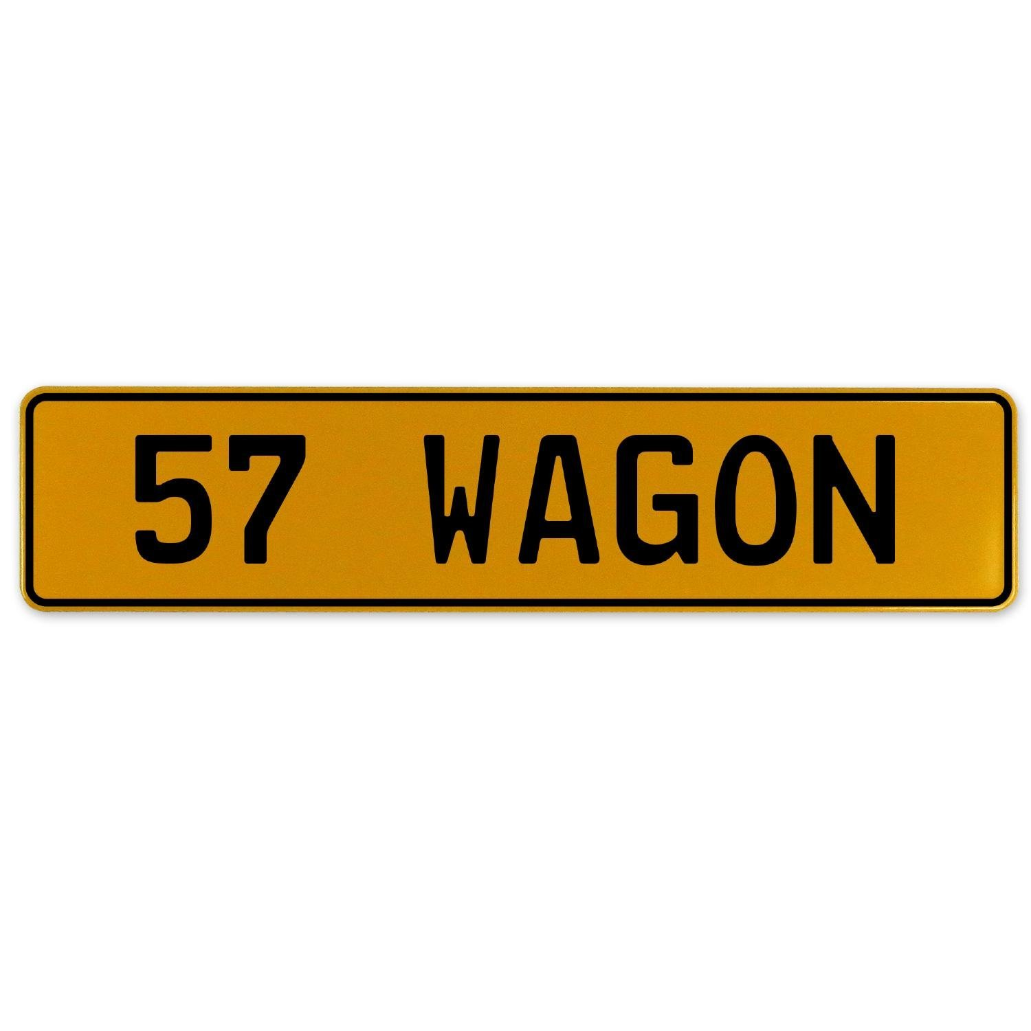 Vintage Parts 563268 57 Wagon Yellow Stamped Aluminum European Plate