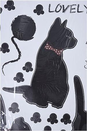 Gaoominy Decoracion de Pegatina de la Pared del Arte de los Gatos Negros para el hogar: Amazon.es: Hogar