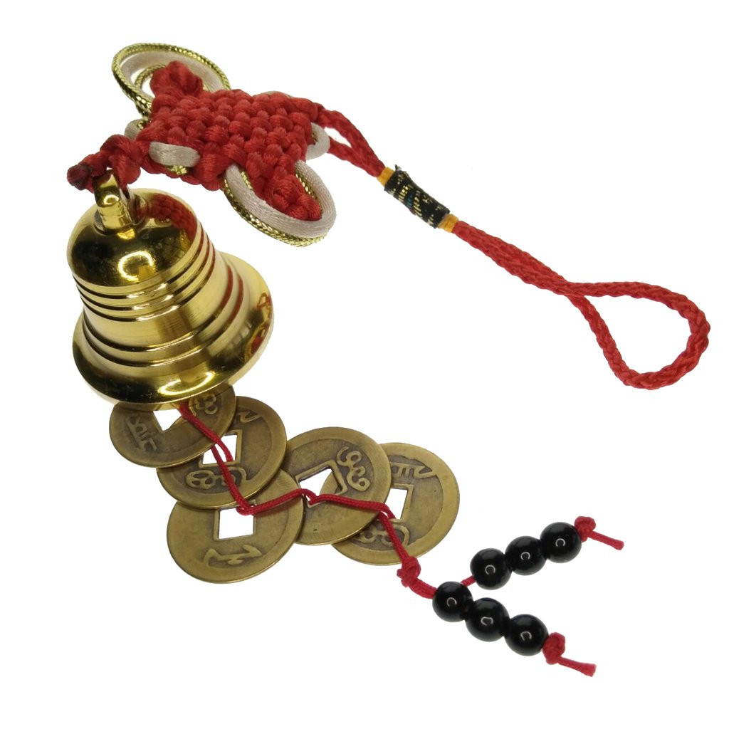 Blesiya Chinese Feng Shui Knot five Ancient Coins be representative for Wealth and Health