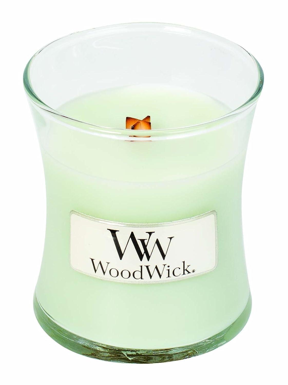 Blanc Verre Woodwick 98046 Bougie 7 x 7 x 8 cm