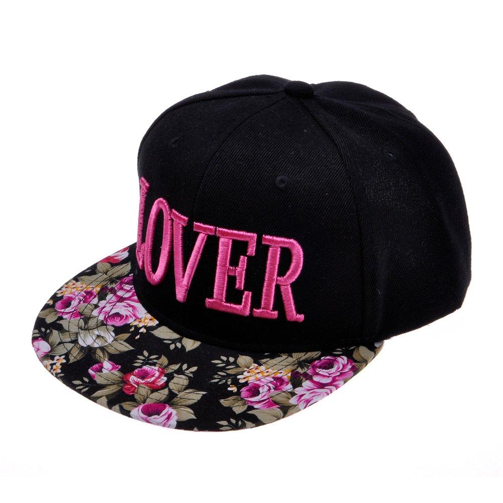 ZLYC Women's Flatbill Visor Snapback Baseball Hat Floral Print Neon Sign ZYJ-MZ-0004-HP