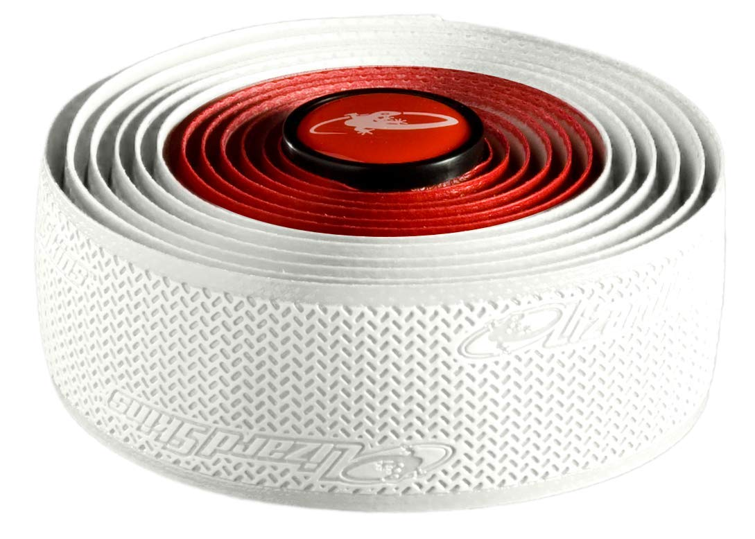 Lizard Skins DSP Bar Tape, 1 Pair of Rolls, Red/White by Lizard Skins