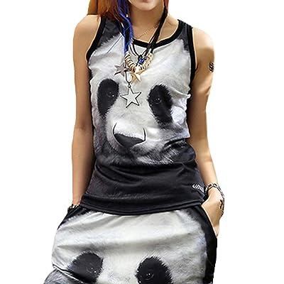 ELLAZHU - Camiseta sin Mangas - para Mujer Talla única: Ropa y accesorios