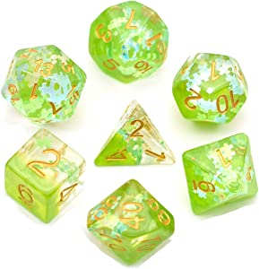UDIXI Polyhedral DND Dice Set Dreamlike Series Dice Compatible Dungeons and Dragons Role Playing Game(RPG),MTG,Pathfinder,Table Game,Board Games Dice Set