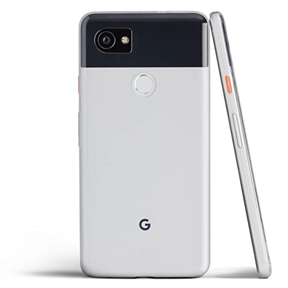 designer fashion 2356c 27f75 totallee Pixel 2 XL Case, Thinnest Cover Premium Ultra Thin Light Slim Soft  Minimal Anti-Scratch Protective TPU - for Google Pixel 2XL (Clear)