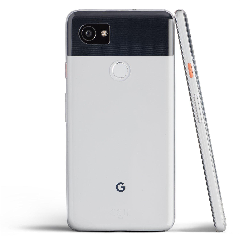 designer fashion 3acbf bd769 totallee Pixel 2 XL Case, Thinnest Cover Premium Ultra Thin Light Slim Soft  Minimal Anti-Scratch Protective TPU - for Google Pixel 2XL (Clear)