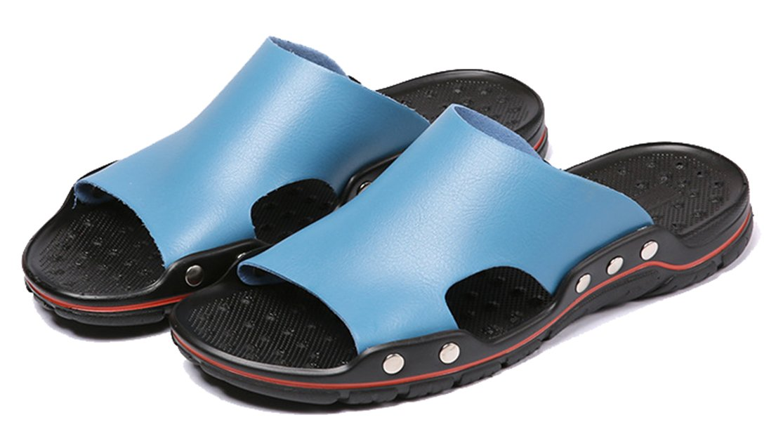 Seaoeey Male Sandals Non-Slip Summer Flip-Flops Outdoor Slippers Large Size Beach Shoes B07CXT8PZ4 10 D(M) US|Blue