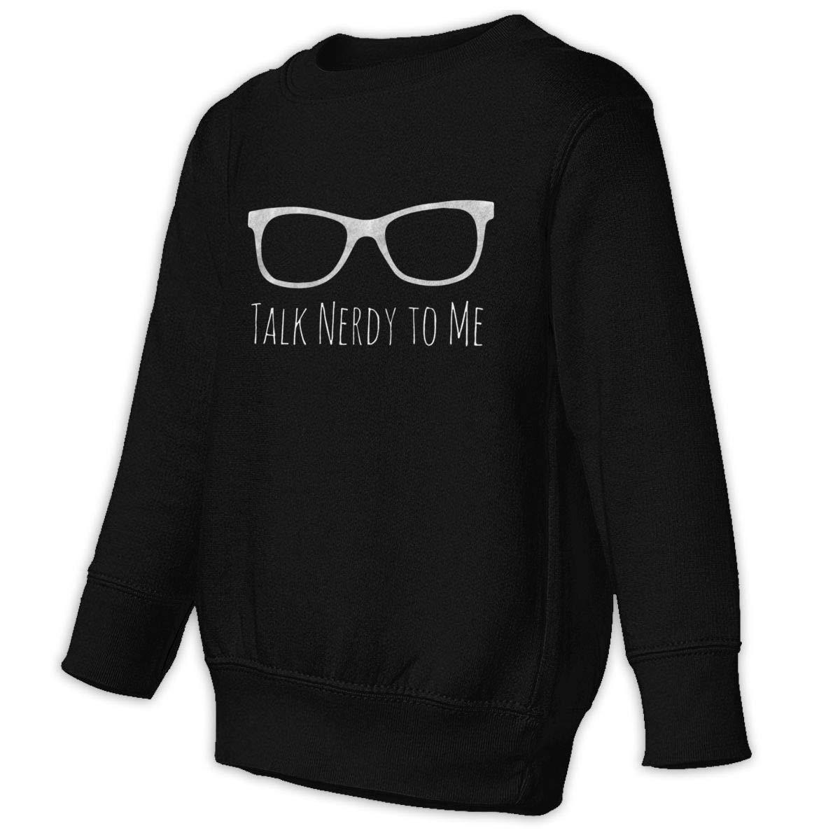 Yuliang Geek Talk Nerdy To Me Children Personality Sweater Black