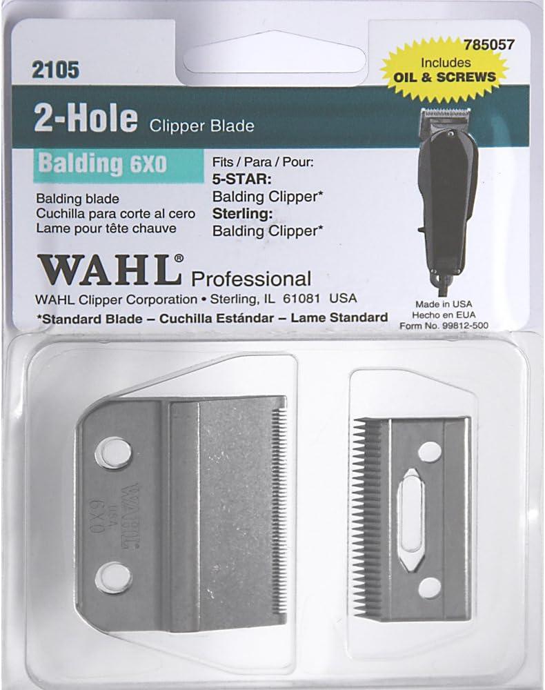 WAHL Professional 2 Hole Balding 6x0 Clipper Blade (Model:2105 ...
