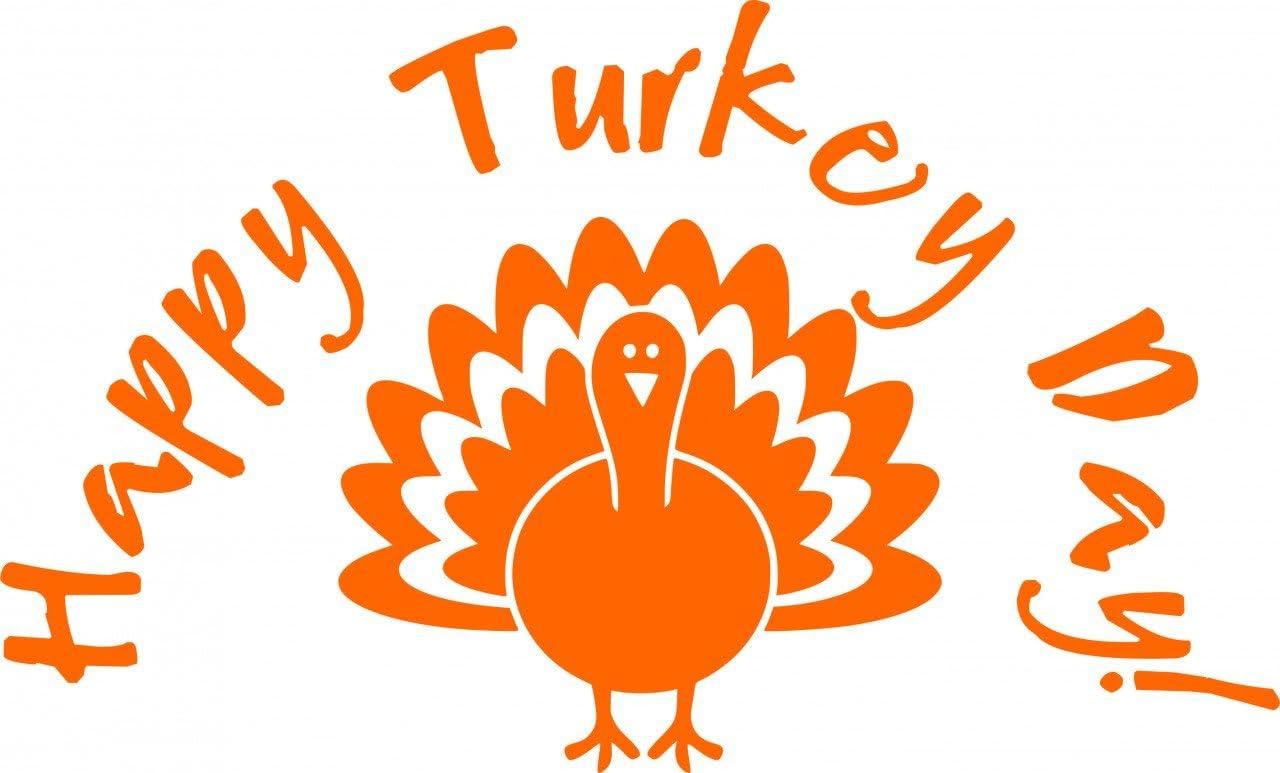 Turkey Thanksgiving Fall Decor Vinyl Decal Wall Sticker Art