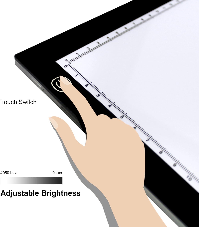 HUION A3 Caja de Luz Tablero de Trazado de Dibujo para Animación Artística Diseño Artesanal con Pinza Sujetapapeles de Metal: Amazon.es: Electrónica
