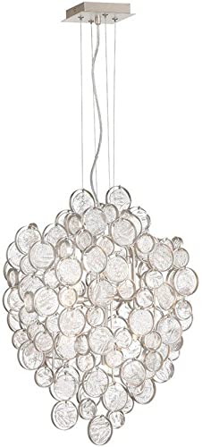 Eurofase 34030-011 Trento Metal Wired Hand Strung Glass Wafers Pendant Light