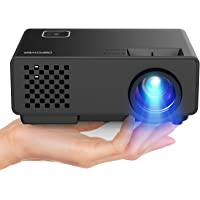"Video Projector -DBPOWER RD810 Portable Mini Projector, 176"" Display, 1080P Supported 50,000 Hrs Home Movie Projector , Compatible with HDMI VGA AV USB"