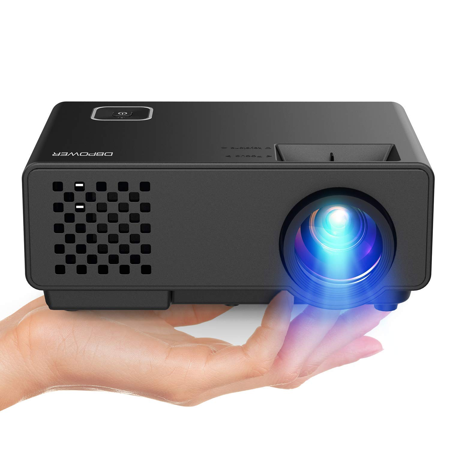 Video Projector -DBPOWER RD810 Portable Mini Projector, 176'' Display, 1080P Supported 50,000 Hrs Home Movie Projector , Compatible with HDMI VGA AV USB by DBPOWER (Image #1)