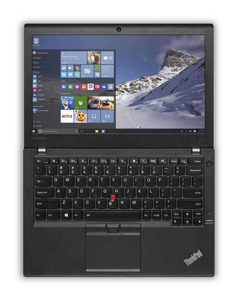 2019 Lenovo ThinkPad X260 12.5 IPS Anti-Glare HD Business Laptop Intel Dual Core i5-6200U, 16GB DDR4 Memory, 256GB SSD WiFi AC, Bluetooth, Fingerprint, Backlit, Ethernet, Windows 10 Professional